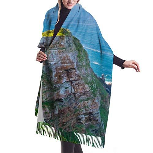 Bufanda de moda de 27'x77 Bufanda ligera de arquitectura colonial antigua con flecos Abrigo de chal para mujer Elegante manta grande y cálida
