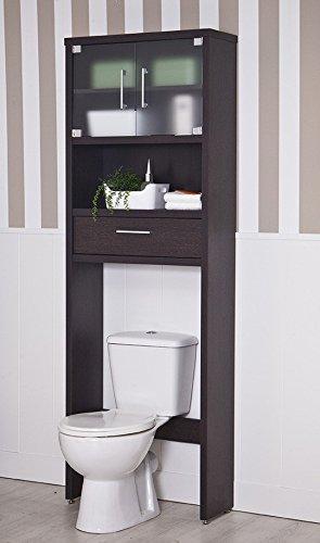 Topkit | Mueble Baño sobre Inodoro Gala 8950 | Medidas 194 x 65 x 25 cm | Estantería sobre Inodoro | Estante Organizador Baño | Armario sobre Inodoro | Wengue