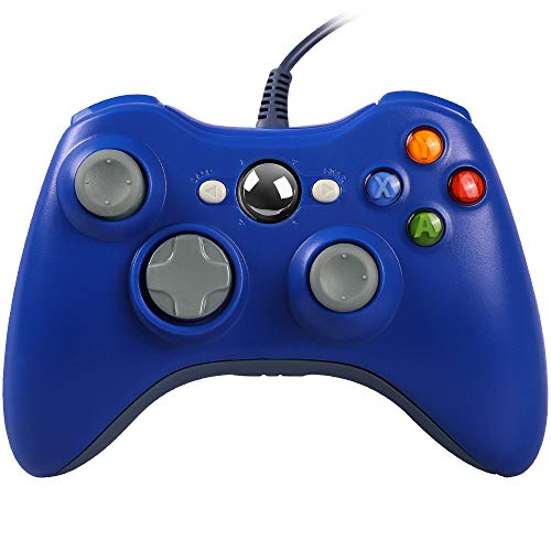 Preisvergleich Produktbild Xbox 360 Controller,  Stoga Kabelgebundene USB Gamepad Controller für Microsoft Xbox 360 PC Windows7 / 8 / 8.1 / 10 (blau)