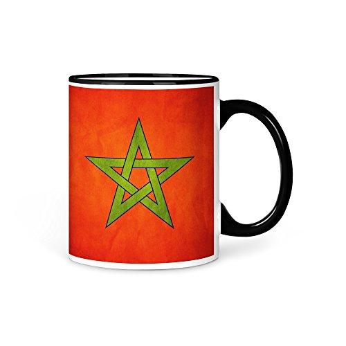 Tasse Kaffeetasse Marokko Fahne 2