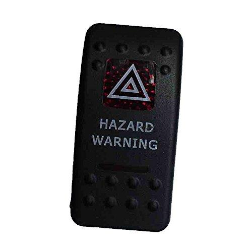 Mintice™ Interrupteur à Bascule Commutateur Lampe Lumière LED Rouge 12V 20A pour Voiture Bateau Moto (hazard warning light)