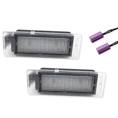 GOFORJUMP Assiettes blanches de plaque d'immatriculation de CAN-bus LED assy pour pour C/hevrolet pour C/ruze, pour 14-16 pour C/hevrolet Corvette Stingray, pour pour C/hevrolet SS, etc.