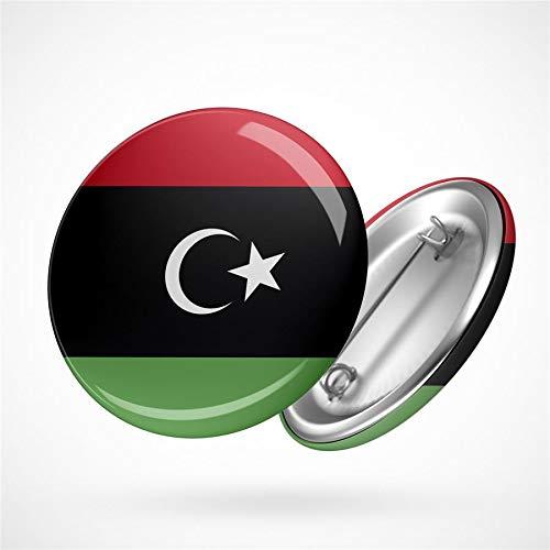 Hellweg Druckerei Button Anstecker Libya Libyen Flagge Nordafrika Staat Badge Abzeichen Pin