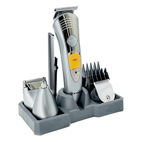 Haarschneide Set Gesicht+Körper+Haar, 7 in 1 Herren Grooming Kit Haarschneider Maschine Bartschneider Dual Rasierer Haarschneidemaschine, Körpertrimmer, Haarschneider, Langhaarschneider, Haartrimmer