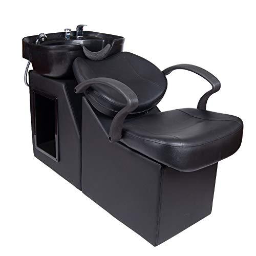 Polar Aurora New Backwash Barber Chair ABS Plastic Shampoo Bowl Sink Unit Station Spa Salon Equipment