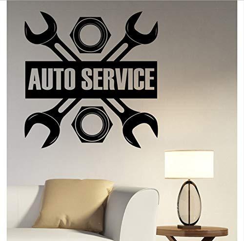 Autoservice Schild Wandtattoo Vinyl Aufkleber Reparatur Bushaltestelle Schild Garage Wanddekoration Fenster Abnehmbare Wohnkultur 57X58Cm