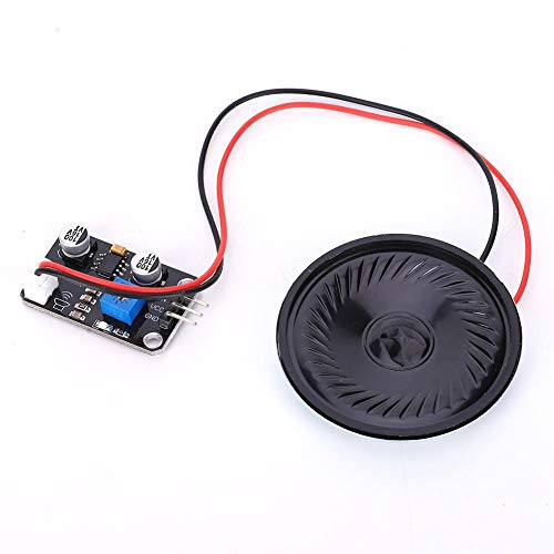 Ccylez Soundmodul, Sprachzufzeichnnung Wiedergabe Musik Module Mic Sound Audio Modul mit Lautsprecher, Eingebautem Leistungsverstärker für den elektronischen Baustein R3