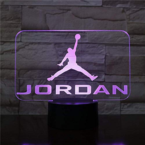 Basketball Michael Jordan Usb 3d Led Nachtlicht Jungen Kind Kinder Fans Geburtstagsgeschenke Mehrfarben RGB AJ Schreibtischlampe Schlafzimmer neon