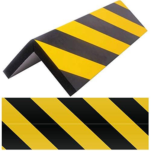 XAVSWRDE Protectores para Columnas en Garaje, 2 unids Protectores Esquinas Garaje con Adhesivo, Protector Parachoques Coche, Amarillo/Negro, Espuma para Golpes, Protector Pilares para Evitar Arañazos