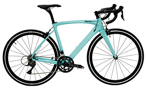 """HeartsBio Carbon Frame Road Bike Model H – Carbon Fiber Racing Bicycle with SORA 18 Speed Derailleur System (48 : Rider Height 5'2""""~5'4"""")"""