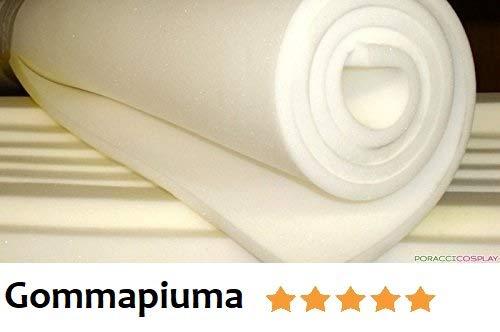 Foglio Spugna/Gommapiuma/Poliuretano Espanso INDEFORMABILE Alta DENSITA' 21 Media Rigidità 100X200 h.3 cm Bianco