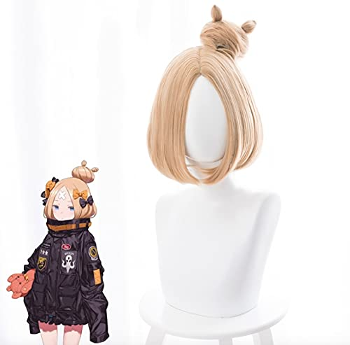 Fate / Grand Order Cosplay Peluca Abigail Williams 33 Cm Pelucas Cortas De Cosplay Halloween Carnaval Mujeres Pelucas De Cosplay