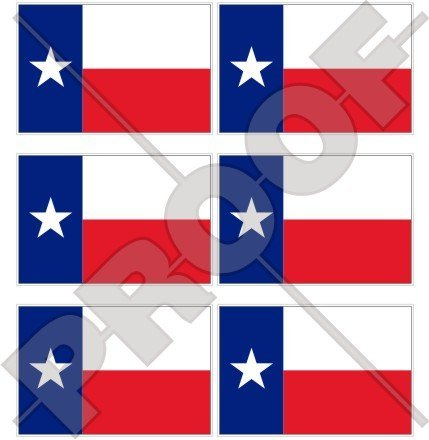 Texas texanischem State Flagge USA Amerika 40mm (40,6cm) Mobile Handy Vinyl Mini Sticker, Aufkleber X6