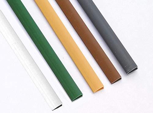 EXCOLO PVC Abdeckprofil Abschlussleiste Profile für Sichtschutzzaun Sichtschutzmatte (Weiß)