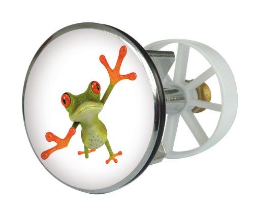 Waschbeckenstöpsel Design Frosch | Abfluss-Stopfen aus Metall | Excenterstopfen | 38 – 40 mm