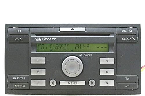 Ford 6000CD radio/estéreo con código - Focus, Fiesta, Transit, C-Max