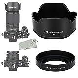 (1+1) ねじ込む式 + 可逆式 レンズフード Nikon HN-40 & HB-90A 互換 Nikkor Z DX 16-50mm & 50-250mm レンズ 用 NIKON Z50 デュアルレンズキット に対応