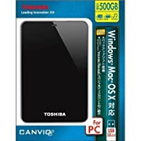 TOSHIBA HDTC605JK3A1 [USB3.0接続 ポータブルハードディスク 500GB ブラック]