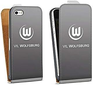 DeinDesign Tasche kompatibel mit Apple iPhone 5 Flip Case Hülle Offizielles Lizenzprodukt VFL Wolfsburg Logo