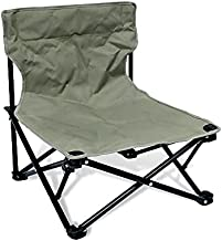 TIYASTUN Low Beach Chairs for Adults,Lightweight Camping Chair, Camp Chair, Folding Chairs for Outside Folding Lawn Chairs for Camping Beach Concert, Low Profile Low Back