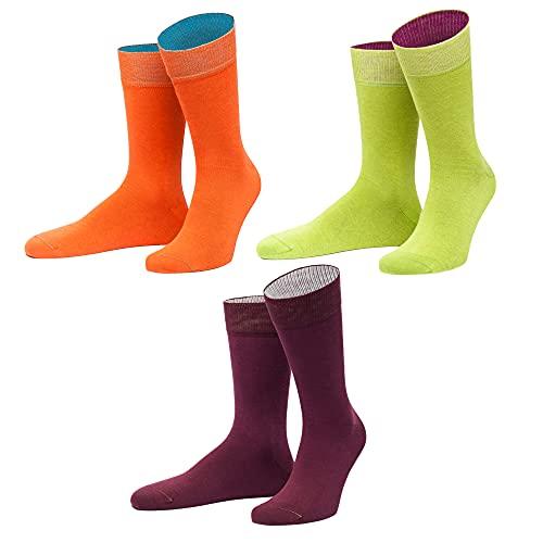 von Jungfeld Socken Strümpfe Bio Baumwolle GOTS viele Farben 3er Pack 43-46