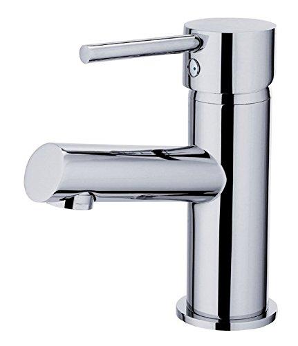 Bad Armatur Waschtischarmatur mit Zugstange und Exzentergarnitur aus Messing Einhebelmischer Wasserhahn Badarmaturen armaturen Waschtischarmaturen
