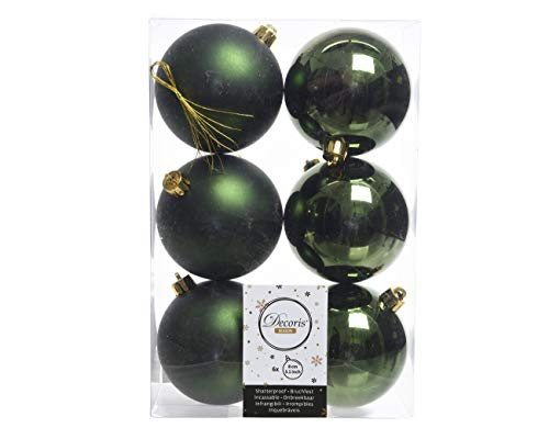 INGE-Glas Magic Lot de 9 Boules de No/ël en Verre 90 mm // Boules de No/ël//Boules darbre//D/écoration de No/ël//Boules en Verre//D/écoration de No/ël//D/écoration de No/ël//Sapin de No/ël 9 cm