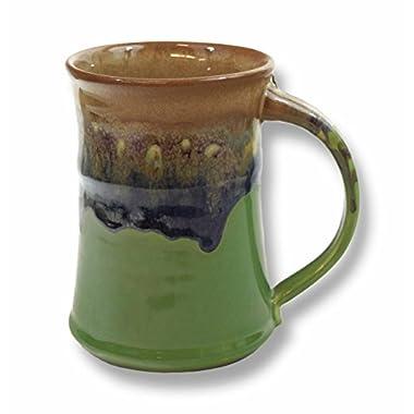Clay in Motion Handmade Ceramic Large Mug 20oz - Mountain Meadows