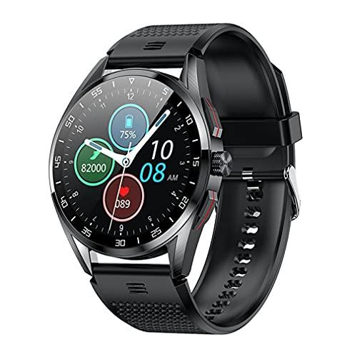 Haowen M3 IP68 Impermeable 1.3 Pulgadas Reloj Deportivo Inteligente para Hombres Botón de rotación Negro Diámetro de la Esfera: 46 mm