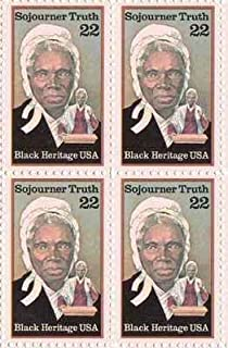 Sojourner Truth Set of 4 x 22 Cent US Postage Stamps NEW Scot 2203