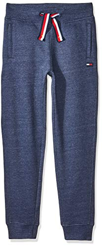 Tommy Hilfiger Jungen Essential Tommy Sweatpants Trainingshose, Black Iris Heather, 10 Jahre