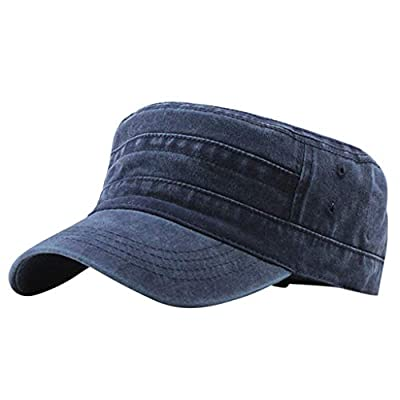 Fashion Outdoor Unisex Casual Cotton Soldier Denim Hat Visor Solid Flat Cap