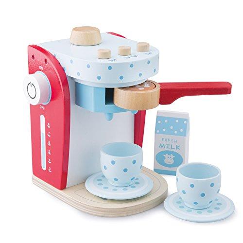 New Classic Toys - 10700 - Kinderrollenspiele - Kaffeemaschine - Mehrfarbig (rot)