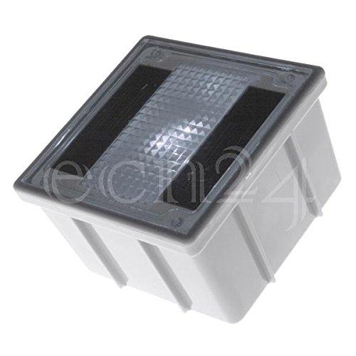 Solar Pflasterstein Solarlampe 10x10cm trittfest weisse LED