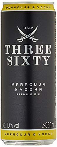 Three Sixty Vodka + Maracuja Ready To Drink, Einweg (1 X 0.33 L)