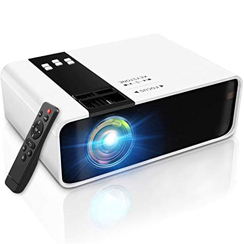 LYDF Projector with WiFi and Bluetooth,WiFi Projector Bluetooth Projector, 2300 Lumen 150' Portable Movie Projector, Compatible with TV Stick, HDMI, VGA, USB, Laptop,for PowerPoint Presentation Black