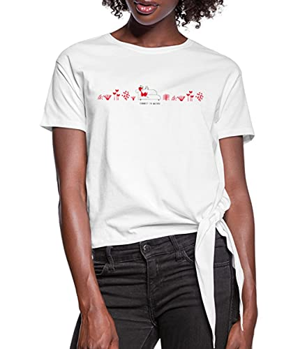 Spreadshirt NINA and Other Little Things Leseecke In Natur Knotenshirt, M, Weiß