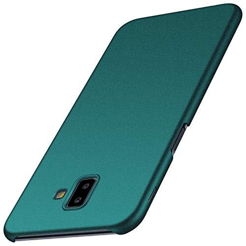 Anccer Funda para Samsung Galaxy J6 Plus [Serie Colorida] [Ultra-Delgado] [Ligera] Anti-rasguños Estuche para Galaxy J6 Plus (Grava Verde)