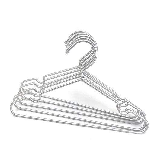 Koobay 60Pack 126 Silver Metal Hangers Non Slip Suit Coated Wire Aluminum Children Storage Baby Hangers