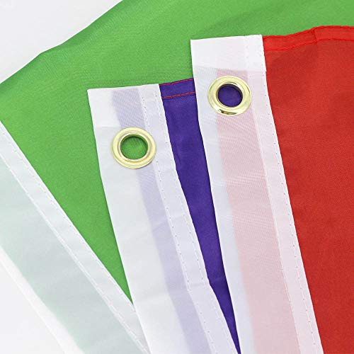 zagtag 3x5 Foot Rainbow Flag 6 Stripes - Vivid Color and UV Fade Resistant - Canvas Header and Double Stitched - Gay Pride Banner Flags Polyester with Brass Grommets 3 X 5 Ft