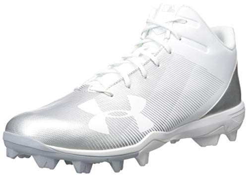 Under Armour Men's Leadoff Mid RM Baseball Shoe, (100)/White, 11.5