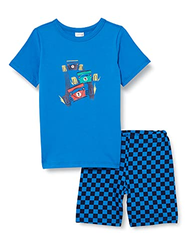 Schiesser Jungen Schlafanzug kurz' Pyjamaset, blau, 116