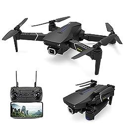 EACHINE E520S GPS Drohne mit 4k HD Kamera,5G WiFi FPV Live Übertragung,250M Reichweite,120°Weitwinkel,Follow-Me,App-Steuerung,16 Minuten Flugzeit,RC Quadrocopter Faltdrohne für Anfänger