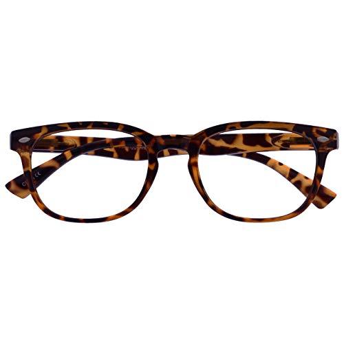 UV Reader UV Reader Braune Schildpatt Kurzsichtig Fernbrille Für Kurzsichtigkeit Designer Stil Herren Frauen UVMR014 -2,50