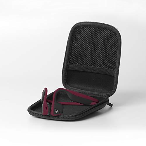 Aftershokz Trekz Titanium - Auriculares de conducción ósea inalámbricos Open-Ear (Orejas Libres) con Estuche de Transporte,Canyon Red