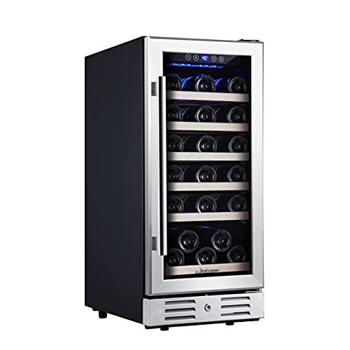 """Kalamera Mini Fridge 15"""" Wine Cooler Refrigerator - 30 Bottle Wine Fridge with..."""