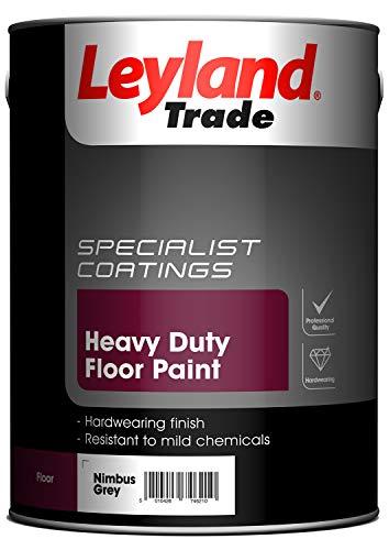 Leyland Trade 264617 Heavy Duty Floor Paint, Nimbus Grey, 5 Litre