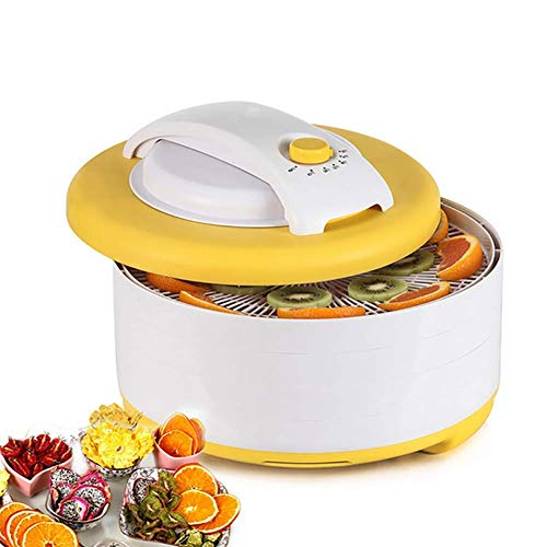 Fantastic Prices! Portable Electric Food Dehydrator with 4 Stackable Tray Multi-Tier Food Preserver