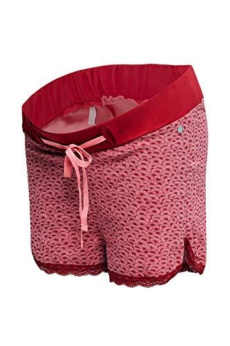 ESPRIT Maternity Damen Shorts Jersey UTB AOP Umstandsshorts, Rosa (Blush 665), 44 (Herstellergröße: XX-Large)