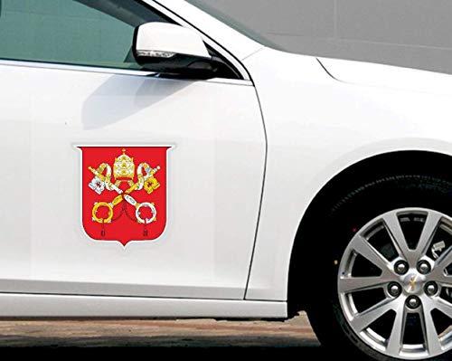 Aufkleber Für Auto Persönlichkeit Auto Aufkleber Vatikan Wappen Auto Dekor Pvc Aufkleber 11Cm * 11Cm